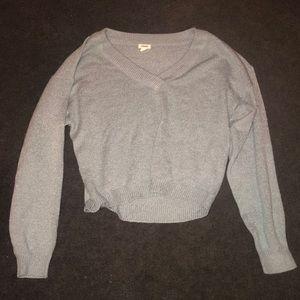 GARAGE cropped sweater v-neck